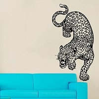 Wall Decals Vinyl Decal Sticker Animals Powerful Leopard Wild Cat Cheetah Home Wall Art Decor Interior Design Mural Living Room