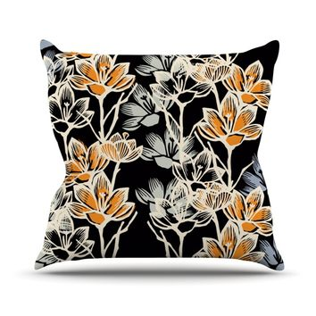 "Gill Eggleston ""Crocus"" Throw Pillow"