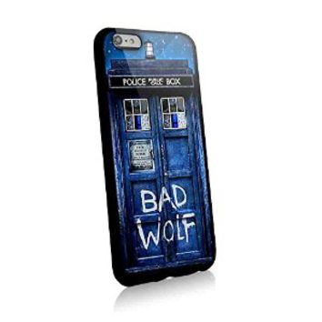 Public Call Box Tardis Galaxy Space Bad Wolf for Iphone and Samsung Galaxy Case (iphone 6 plus black)