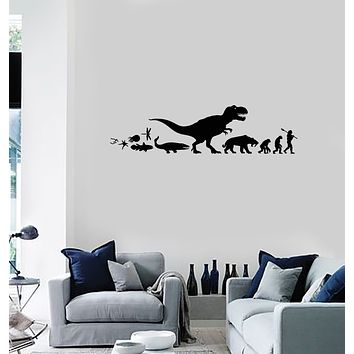 Vinyl Wall Decal Evolution Art Biology Science Class School Decoration Stickers Mural (ig6032)