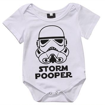 Cotton Newborn Baby Girls Boys Clothes Short Sleeve Bodysuits Print Star Wars Cute Summer Jumpsuit Outfits Boys Baby Clothes