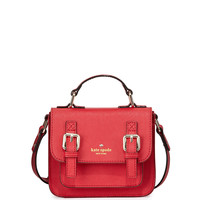 scout girls' saffiano leather crossbody bag, lollipop red - kate spade new york