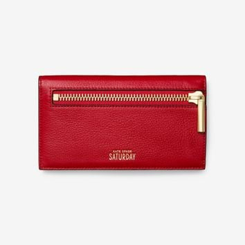 Kate Spade Saturday Zipline Flap Wallet