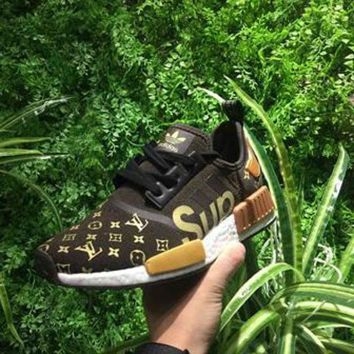 VONE05O Supreme x Louis Vuitton x adidas NMD R1 Boost Sport Casual Shoes Sneakers
