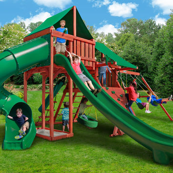 Gorilla Playsets Sun Valley Deluxe Wooden Swing Set