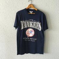 1989 Yankees Baseball Vintage New York New York 1980's T Shirt