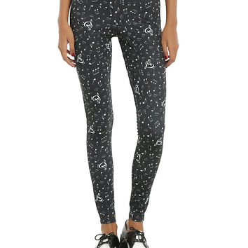 Blackheart Black & White Music Note Leggings