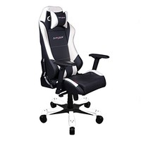 Dxracer Racing Bucket Seat office chair X large DOH/IF11/NW PC gaming chair computer chair executive chair ergonomic rocker With Pillows(Black/White)