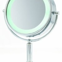 Danielle 15x Magnification L.E.D. Lit Flip Vanity Mirror:Amazon:Beauty