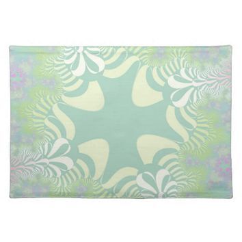 Green Pastel Star Placemats