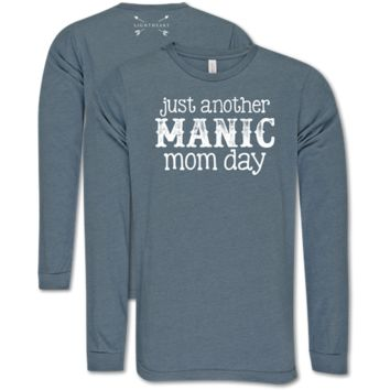 Southern Couture Lightheart Manic Mom Long Sleeve T-Shirt