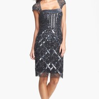 Adrianna Papell Embellished Mesh Dress (Regular & Petite) | Nordstrom