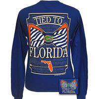 New Tied To Florida Gators Big Prep Bow Girlie Long Sleeve T Shirt