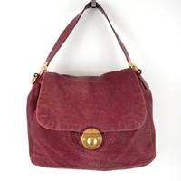Marc by Marc Jacobs Lamb Leather Purse Red Push Clasp Flap Over Top Handbag Vtg