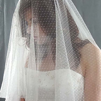 Point D'Esprit Drop Veil