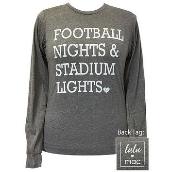 Girlie Girl Originals Lulu Mac Preppy Football Nights Stadium Lights T-Shirt