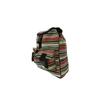 WillaRue Striped Traveler Multi Gray/Reds with Black