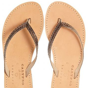 Ollie Leather Flip Flops | Calypso St. Barth
