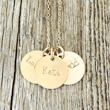 Children's Name Custom Gold Necklace
