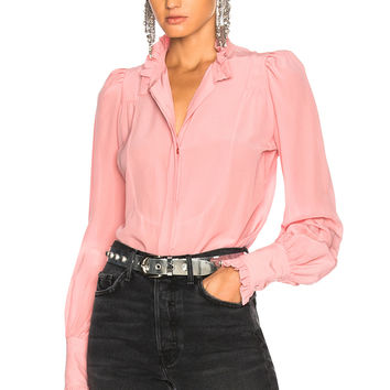 Isabel Marant Sloan Blouse in Candy Pink | FWRD