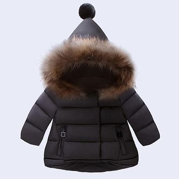 Children's New Clothes Baby Girls Boys Jackets Autumn Winter Jacket Kids Keeping Warm Cotton Novelty Hooded Thick Outerwear Coat
