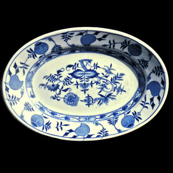Restaurant Ware Antique Plate Greenwood China Blue Onion Pattern