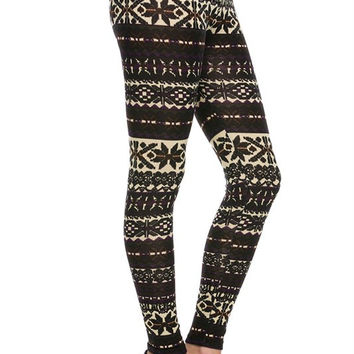 BLACK AS NIGHT FLORAL LEGGINGS
