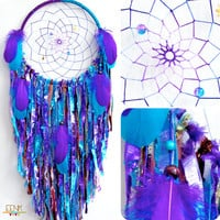 Cosmic Galaxy Native Style Handwoven Dream Catcher