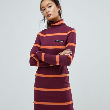 Ellesse Jersey Mini Dress With Roll Neck at asos.com