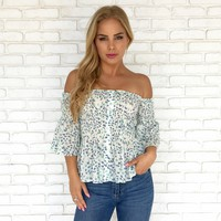 Work Of Art Smocked Off Shoulder Top