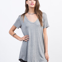 Basic T-Shirt Tunic Top
