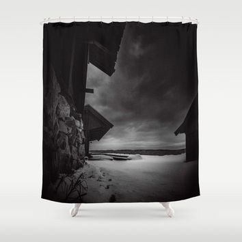 Frozen in time Shower Curtain by HappyMelvin