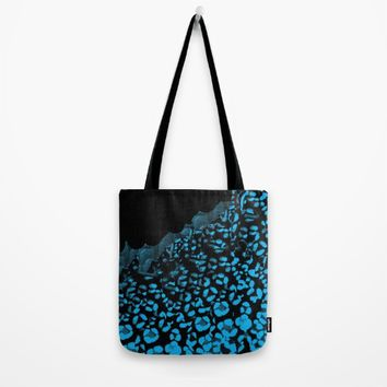 Leopard Print Tote Bag by ES Creative Designs