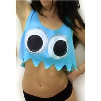 Rave Ghost Crop Top | Neon Party Crop Top | Women's EDM Festival Apparel