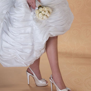 "Ivory Wedding Shoes 4"" heels"
