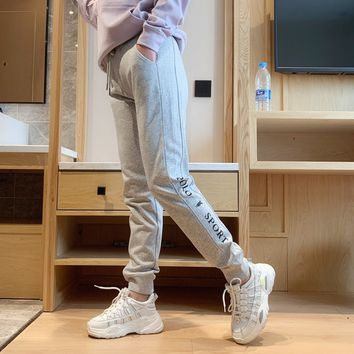"""""""Polo Sport"""" Women Casual Letter Print Pocket Sweatpants Couple Thickened Leisure Pants Trousers"""