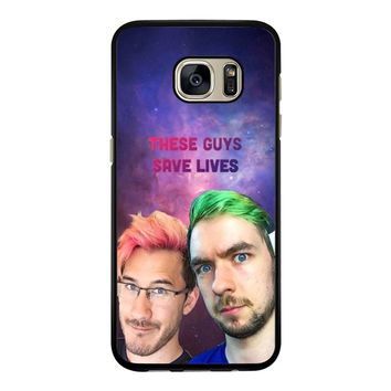 Jacksepticeye And Pewdiepie Markiplier 001  Samsung Galaxy S7 Edge Case