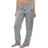 Women's Dallas Cowboys Nike Gray Rally Open Hem Rewind Sweatpants