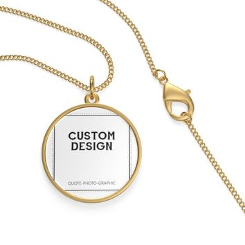 Personalized Single Loop Necklace