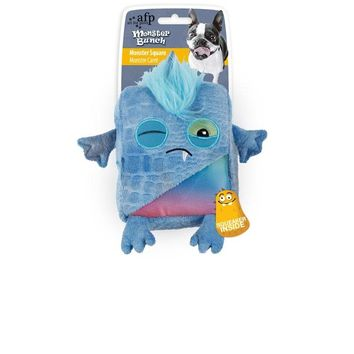 All For Paws Dog Blue Monster Square Squeaker Toy