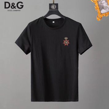 Dolce&Gabbana D&G Fashion Black T-Shirt Top Tee