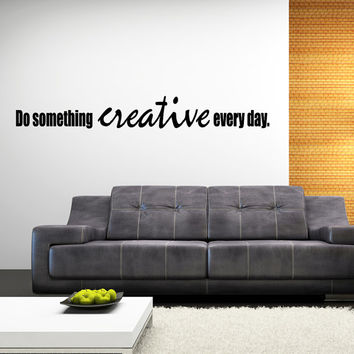 creative office wall art. Do Something Creative Inspiring Bedroom Or Office Wall Decal Quote Art Inspirational Decor Quotes