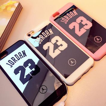Mirror Case For iPhone 6 case 6s Plus 5 5s 7 Plus Superman Jordan 23 case Soft Silicon