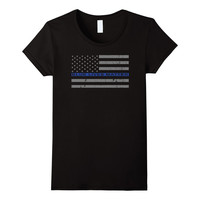 Blue Lives Matter - Thin Blue Line Flag T-Shirt