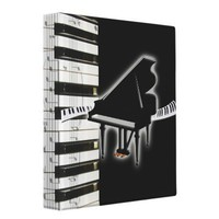 Piano Keyboard and Music Notes Binder from Zazzle.com
