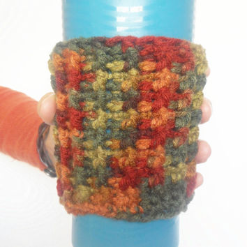 Textured Coffee Cozy in Autumn, ready to ship.
