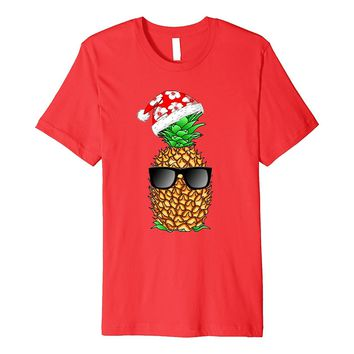 Tropical Funny Christmas Pineapple T-Shirt