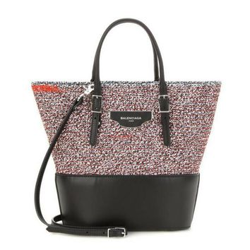 balenciaga fabric and leather shopper 2