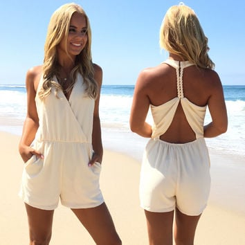 Tide Rope Romper In Ivory