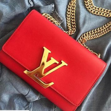 GUCCI Women Red Shopping LV Word Crossbody Satchel Shoulder BagB-MYJSY-BB
